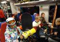 Лыжи и сноуборды любого размера можно бесплатно провозить в пригородных поездах МТППК